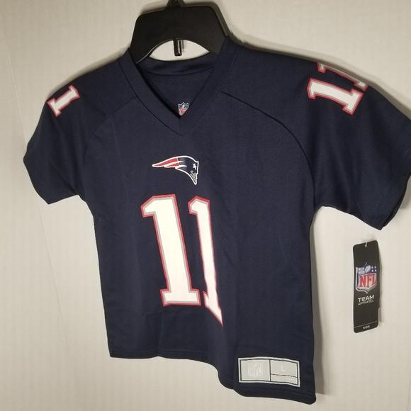 finest selection f2a9c 175ca NFL Patriots Edelman Kids Jersey Large 6/7x NWT